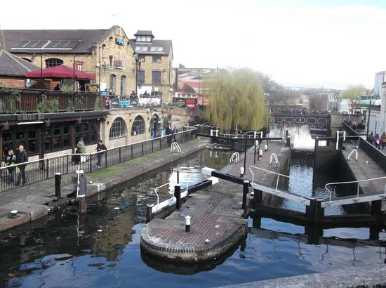 Camden Market: écluse du canal de Camden