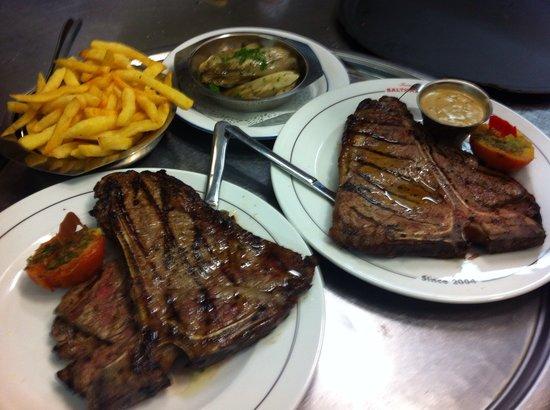La Ferme de Balthazar : Tbone steak, repas standard ferme balthazar