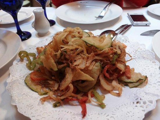 Taberna la Favorita: verduras en tempura buenisimas