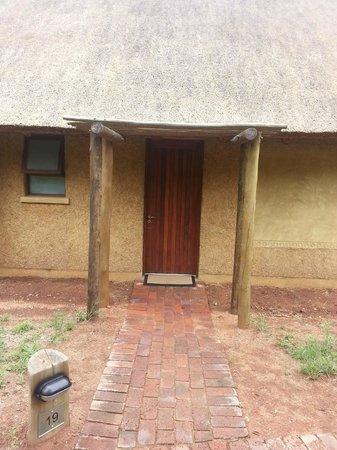 Kapama Southern Camp: l'entrée de notre chambre