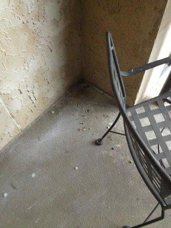 Renaissance Birmingham Ross Bridge Golf Resort & Spa: pigeon droppings on balcony