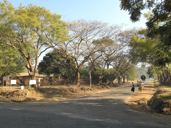 Korea Garden Lodge: Straße zur Lodge