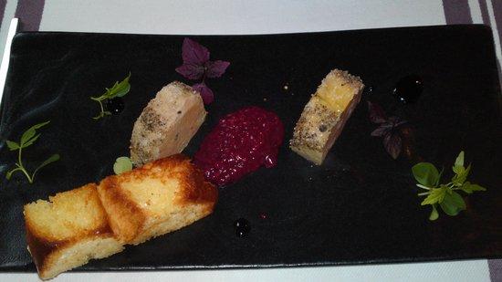 Astelena 1997 Restaurante: il delizioso foie gras a la plancha..