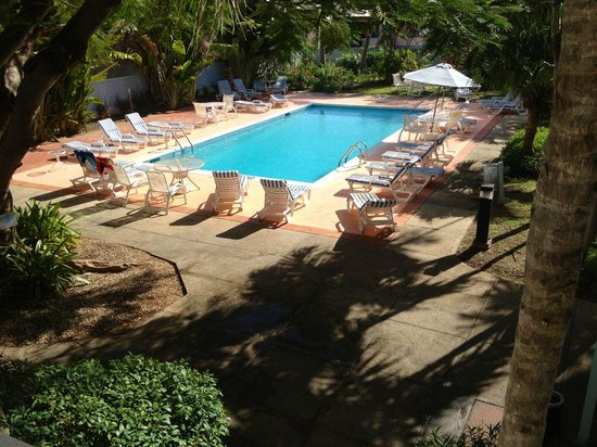 Time Out Hotel: Pool . good size for these who swin . not many people around . Palm trees around , Nice place to