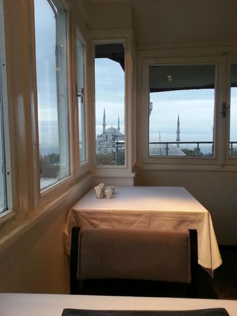 Ambassador Hotel : Breakfast view (inside)