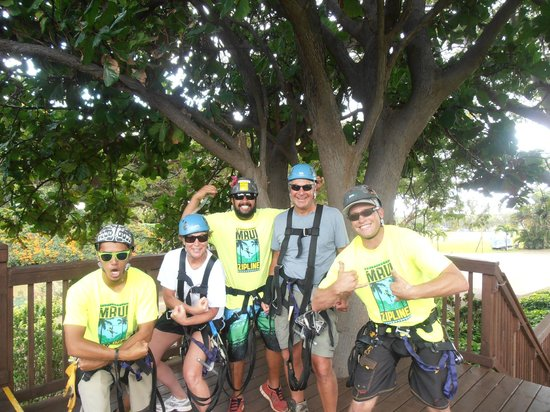 Maui Zipline Company: Our trusted guides:  Keoki, Kurt and Kaulana!