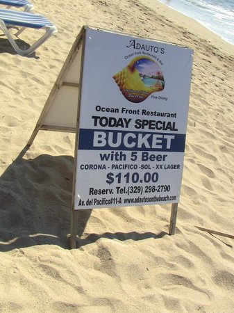 Adauto's On The Beach : Beer sign