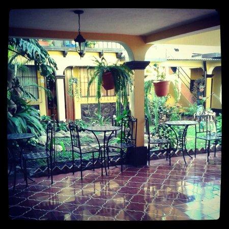 Hotel Las Camelias Inn : patio y jardin