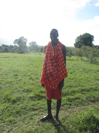Loyk Mara Luxury Camp: Our Maasai security detail...