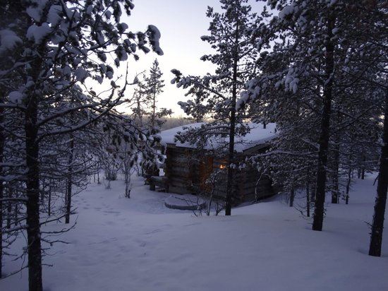Kakslauttanen Arctic Resort : View from our log cabin of the nearest one to us, you get lots of privacy
