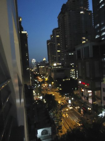 Cape House, Bangkok: night view of our balcony