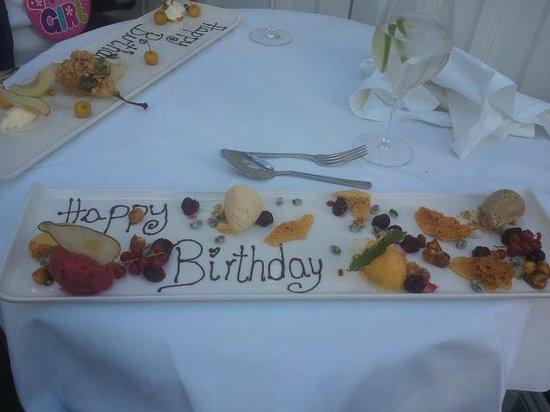 Bannatyne Hotel - Charlton House : Birthday platter! Very impressive.