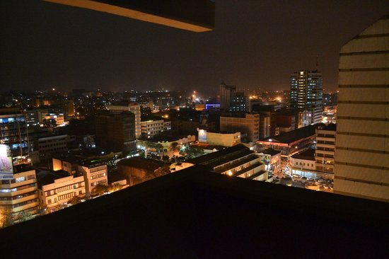 Nairobi at night from the Chester House balcony