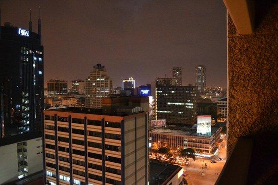Nairobi at night from the Chester House balcony