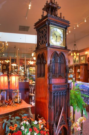 Solvang Antiques: Gothic Cathedral Floor Clock From 1880