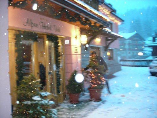 Alpen Hotel Vidi: Front door