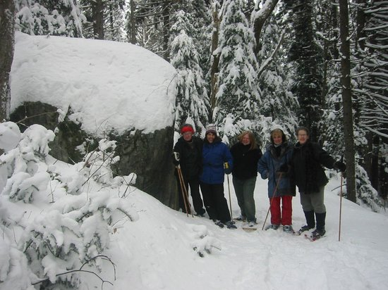 The Brass Bed B&B: Snowshoeing on the trails