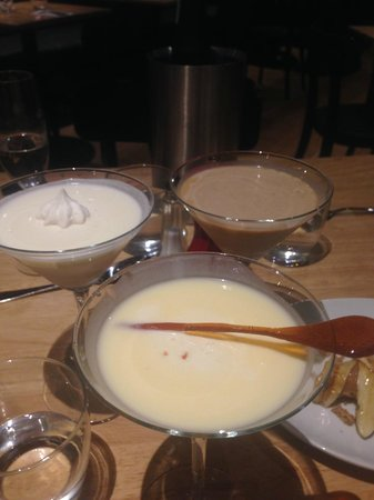 Hadskis : dessert cocktails - creme brulee, tiramisu and lemon meringue