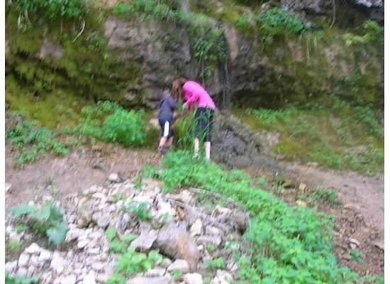 Willow River State Park : climbing on the rocks and watching the water dribble down the side of the hill.