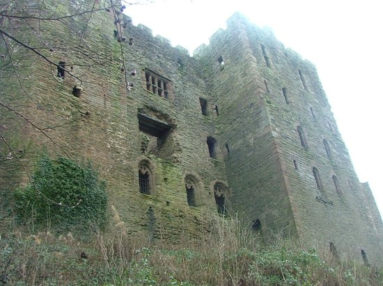 Fishmore Hall : Ludlow castle walls