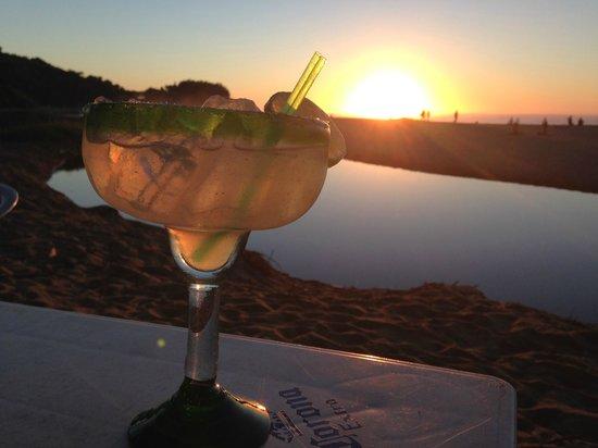 La Playa: Margarita at sunset