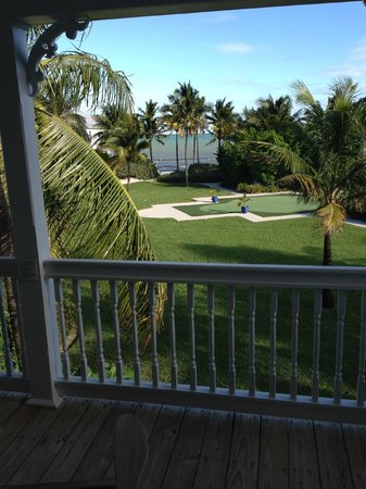 """Tranquility Bay Beach House Resort: Garden view, putting green and """"quiet"""" pool on right"""