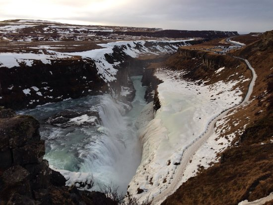 Golden Circle Route: Gullfoss Waterfall