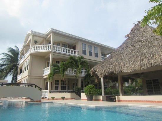 Iguana Reef Inn: Pool and bar palapa