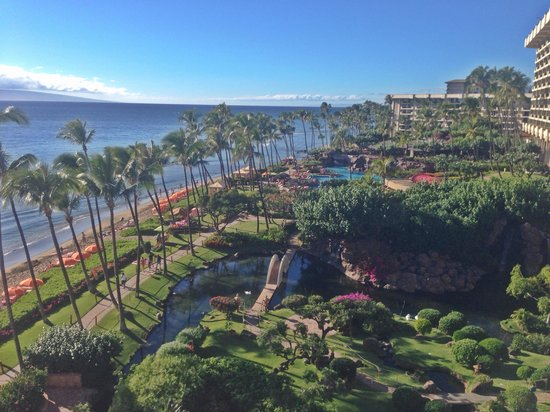 Hyatt Regency Maui Resort and Spa: View from ocean front one bedroom suite with 3 balconies!!