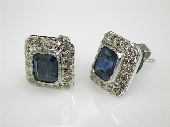 Cynthia Findlay Antiques: Classic Sapphire Earrings