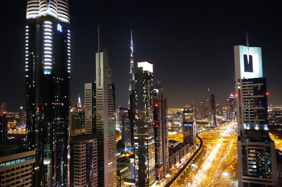 Four Points by Sheraton Sheikh Zayed Road, Dubai: The view from Level 43 rooftop bar