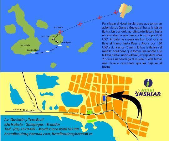 Hostal Insular : Como llegar a Isabela