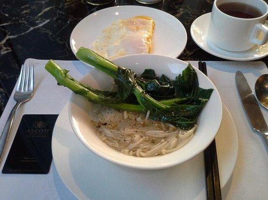 Ascott Maillen Shenzhen: Chinesse noodle for breakfast