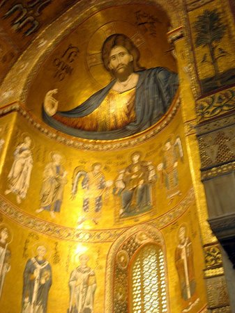 Duomo di Monreale: Christ Pantocrator embraces all at Monreale