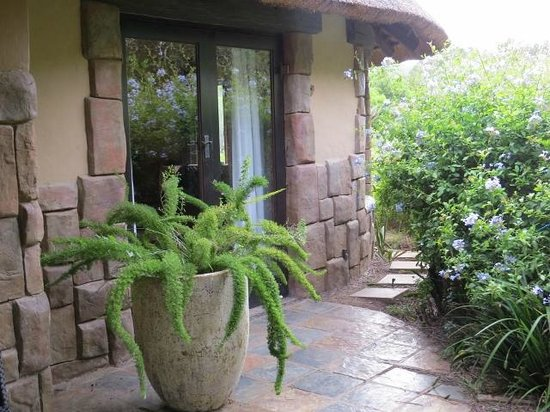 Kariega Game Reserve - All Lodges: our bedroom door to the patio