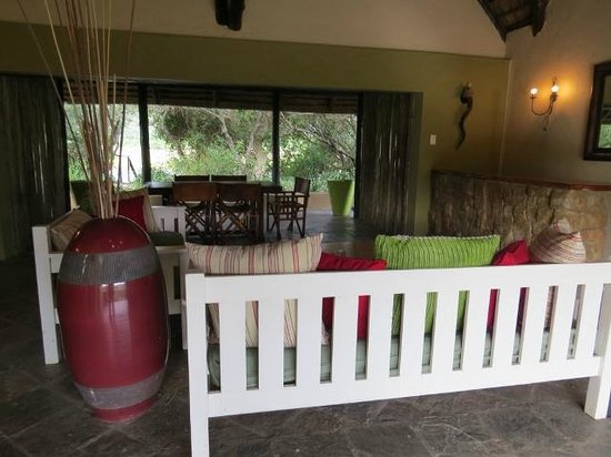 Kariega Game Reserve: our private open air living room and dining room