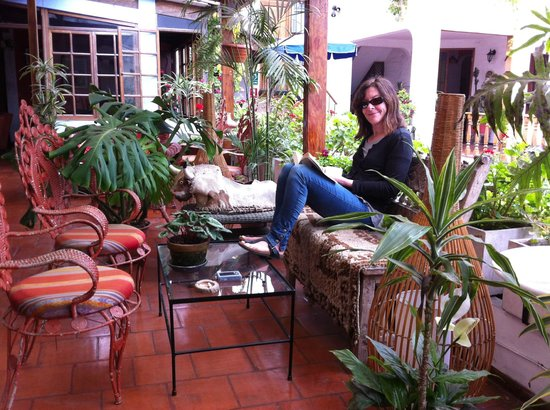 Hostal El Patio: It's not called El Patio for nothing!
