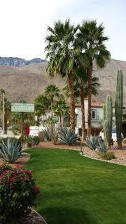 Desert Riviera Hotel: Approaching the hotel from E Palm Canyon Drive