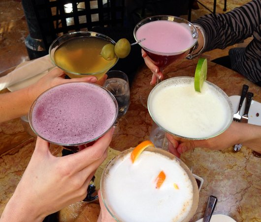 Todd English's Olives : Yummy drinks at Olives on a warm January afternoon!