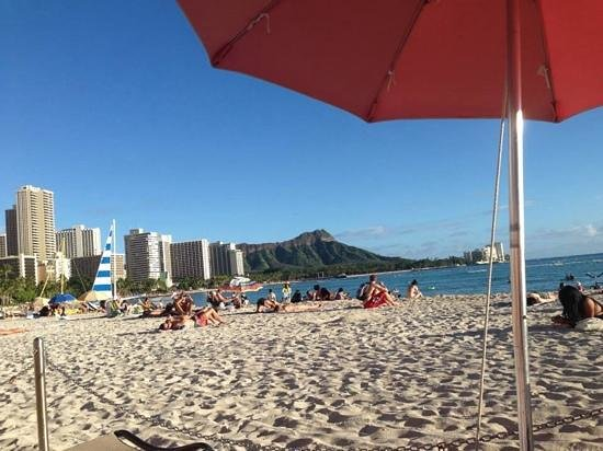 The Royal Hawaiian, a Luxury Collection Resort : view from chairs of water