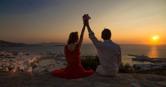 Castle Panigirakis: romantic sunet