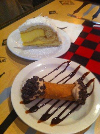 Joseph's Italian Restaurant: Coconut cream cake & house-made cannoli!