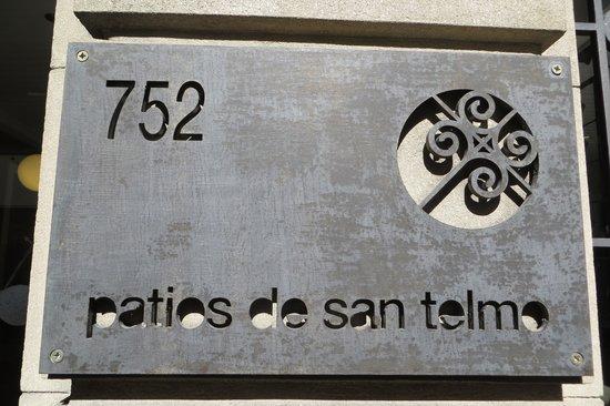 Patios de San Telmo: Hotel signage