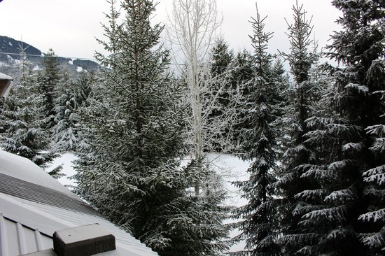 Coast Blackcomb Suites at Whistler : View from our room to the slopes