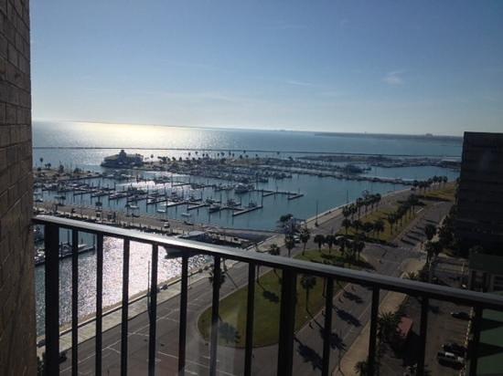 Holiday Inn Corpus Christi Downtown Marina: view from balcony window (balcony remains locked)