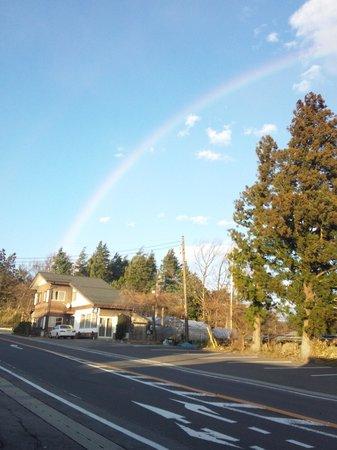 Onyado Nakata : 施設付近から撮影した虹です。