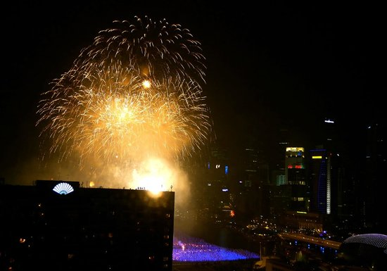 Pan Pacific Singapore: Amazing view of fireworks
