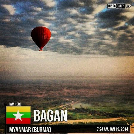 Balloons over Bagan: View over Bagan