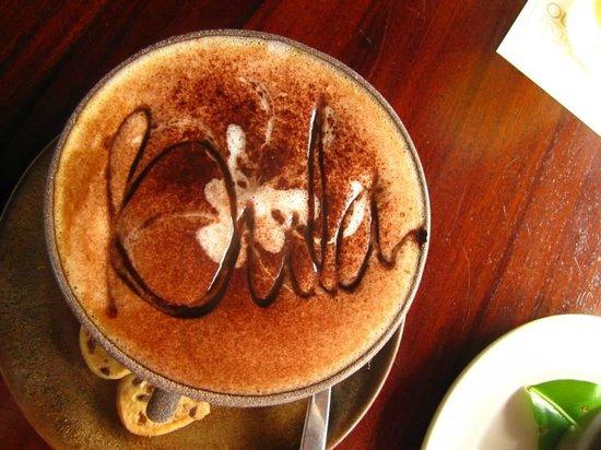 Outrigger Fiji Beach Resort: coffee from sundowner