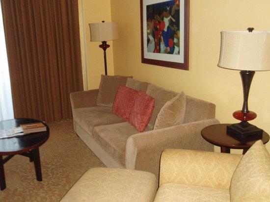 Hilton Grand Vacations at Hilton Hawaiian Village: リビング
